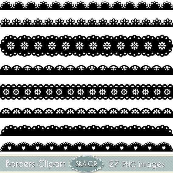 Lace clipart silhouette. Scalloped borders clip art
