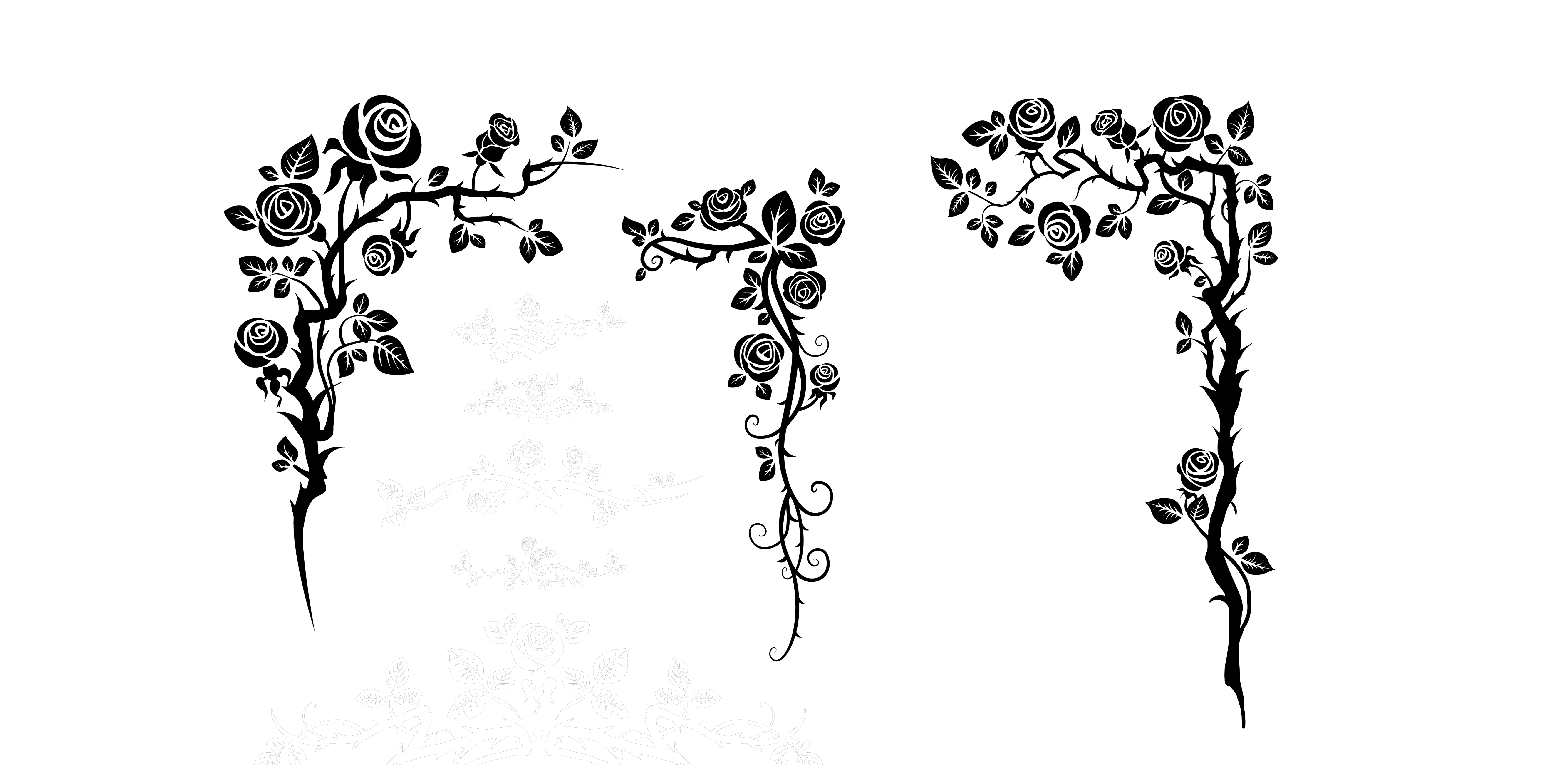 Lace clipart silhouette. Illustration flower vine png