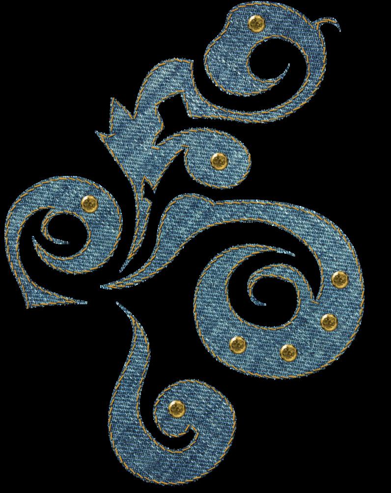 Lace clipart swirl. Denim by melissa tm
