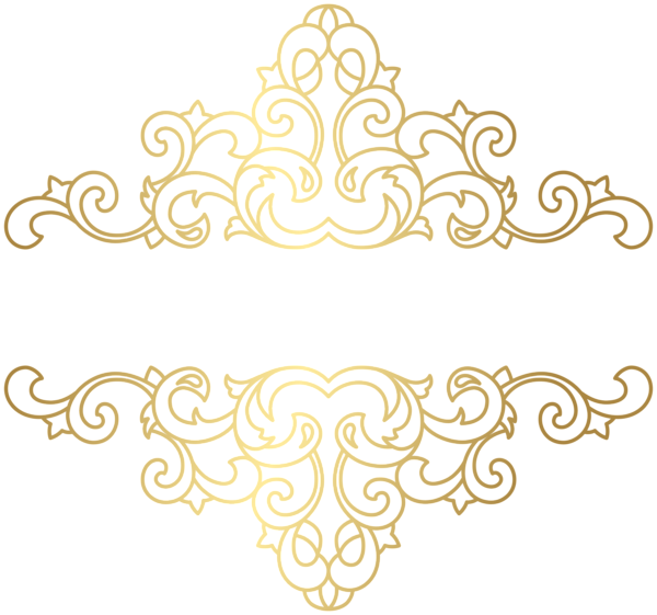 Gold ornament png clip. Lace clipart tied