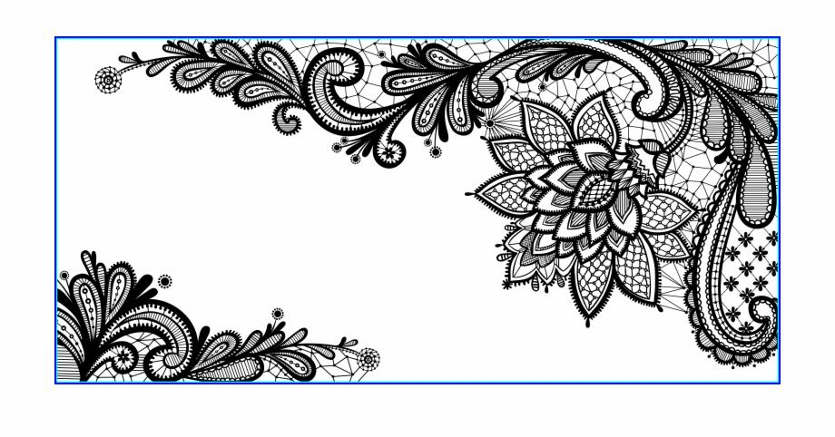 Marvelous black ornament png. Lace clipart vector