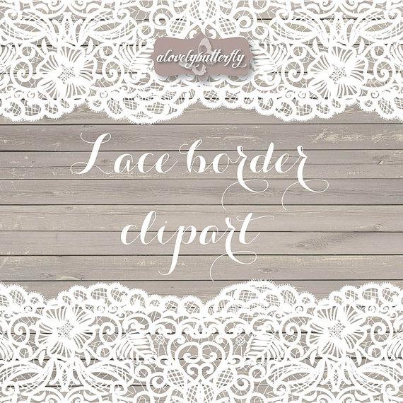 Wedding border rustic shabby. Lace clipart vector
