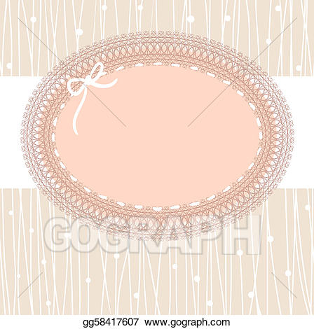 Frame stock illustration gg. Lace clipart vintage lace