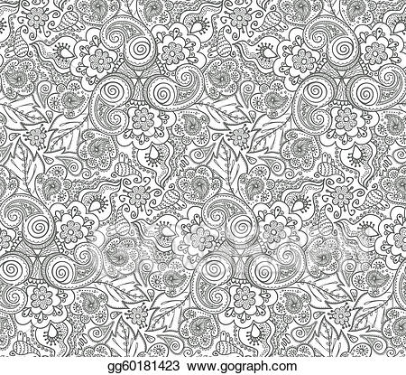 Lace clipart wallpaper. Vector illustration seamless pattern