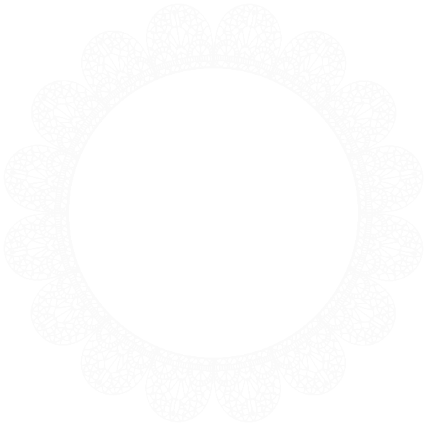 lace clipart white round