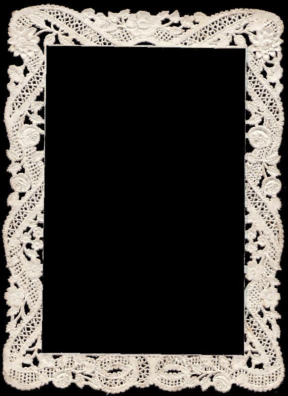 Lace frame png. Vintage zibi scrap frames