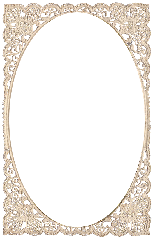 Zibi vintage scrap ramy. Lace frame png