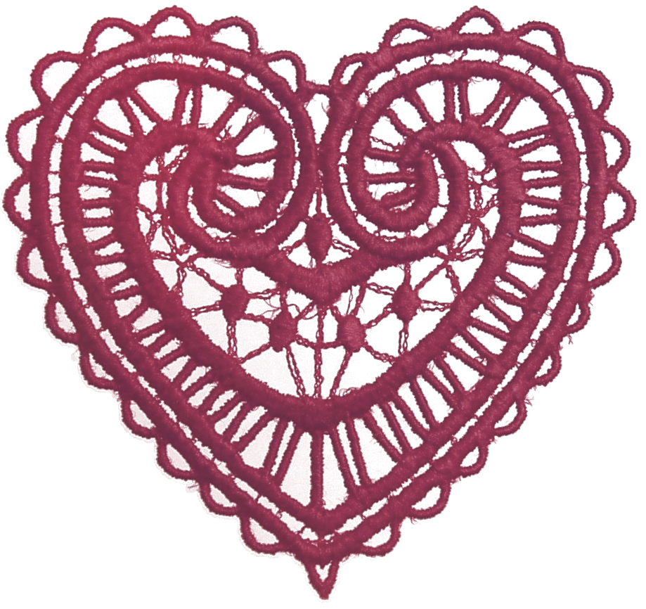 Lace vector png. Graphic collection ruby red