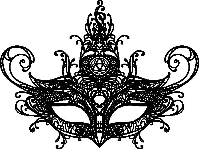 Lace vector png. Art zaori masksvg