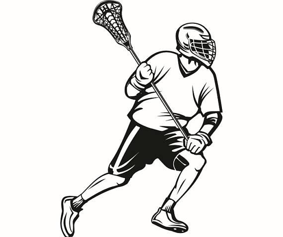 Silhouette clip art at. Lacrosse clipart
