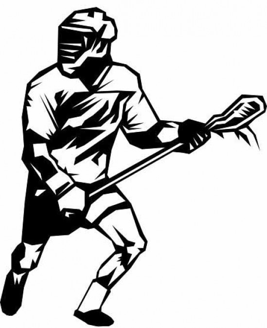 Free player shooting graphic. Lacrosse clipart