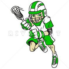 Lacrosse clipart. Sports image of woman