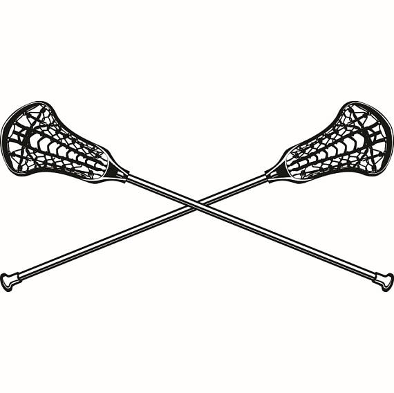 Logo sticks crossed equipment. Lacrosse clipart