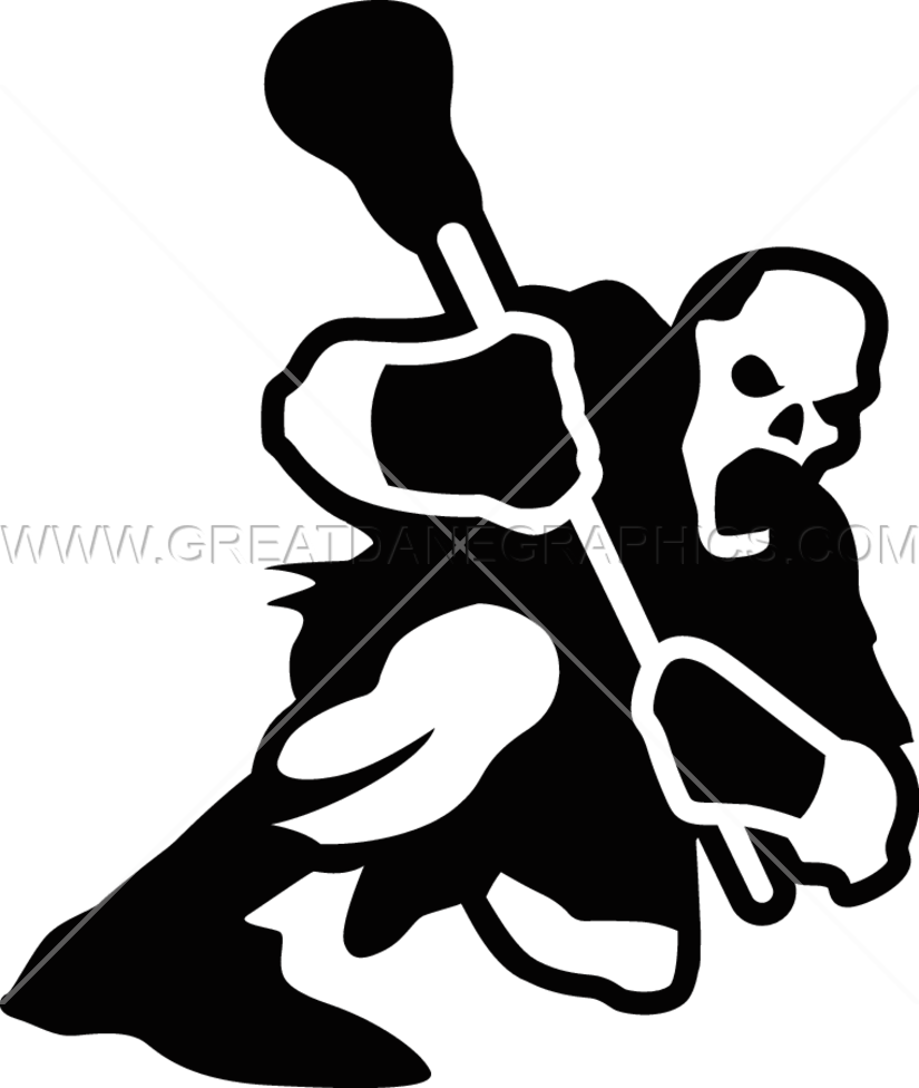 Lacrosse production ready artwork. Zombie clipart silhouette