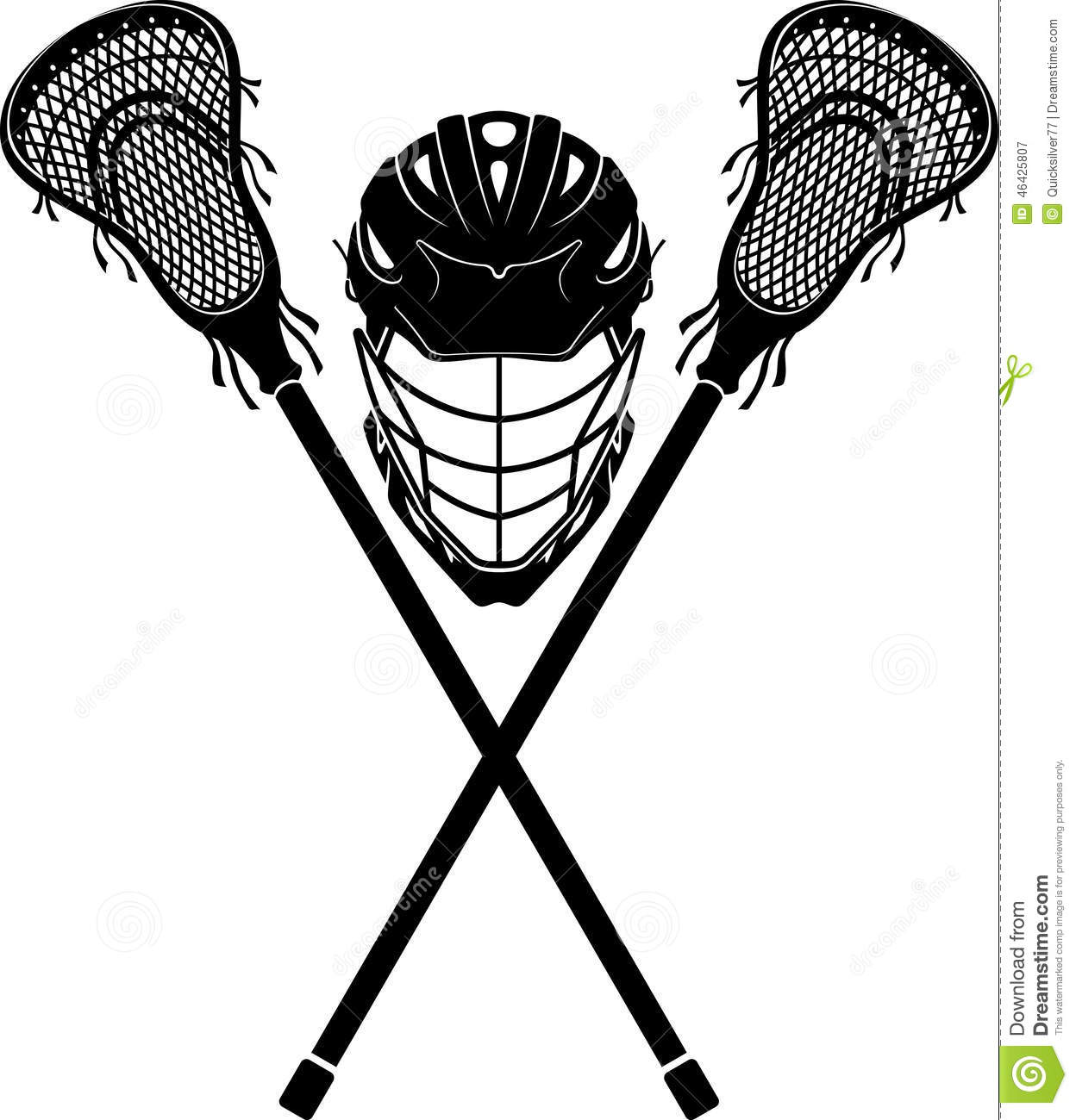 Lacrosse clipart black and white. Free download best