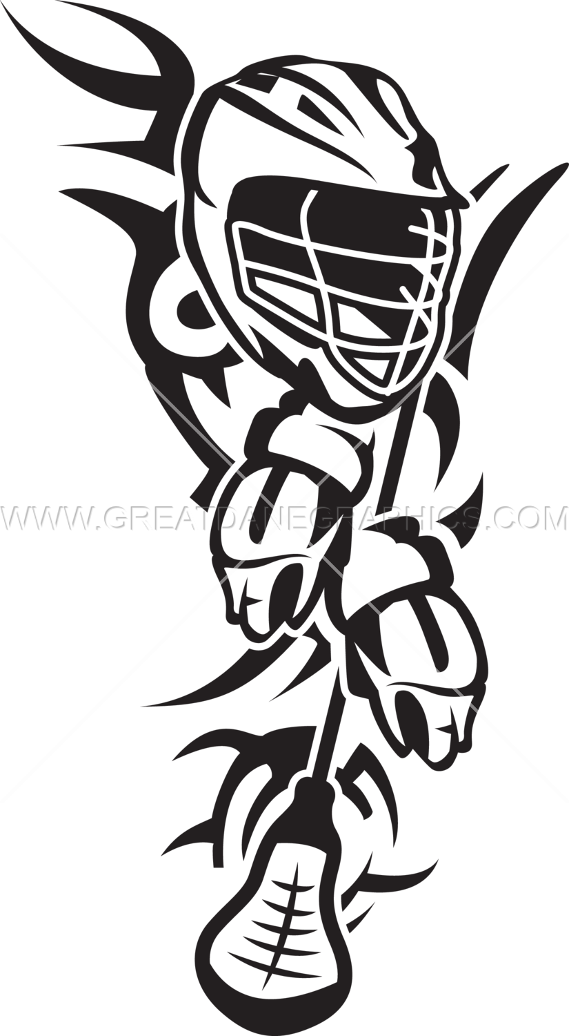 Graphics artwork simplified with. Lacrosse clipart black and white