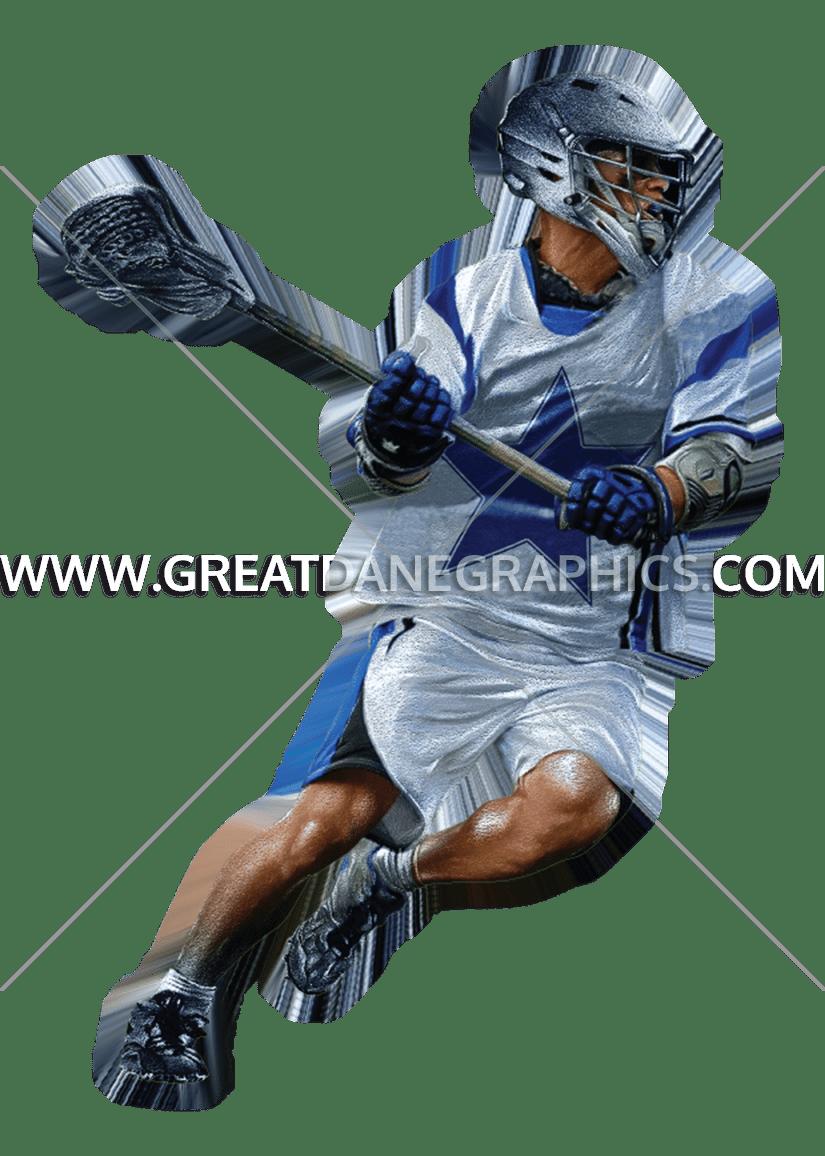 Star production ready artwork. Lacrosse clipart blue