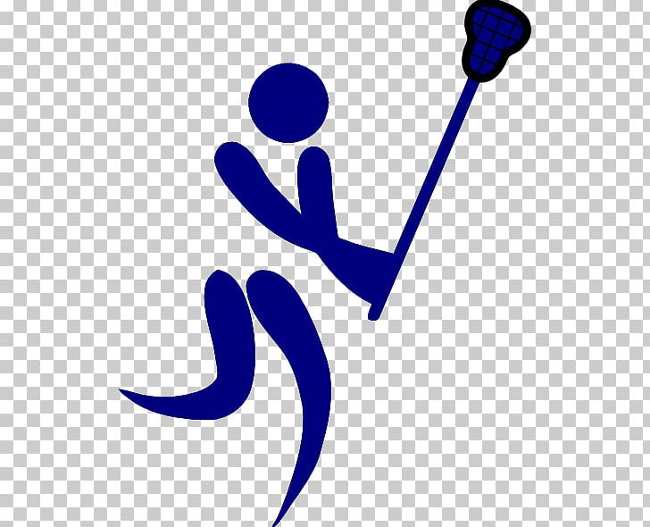 Olympic games stick pictogram. Lacrosse clipart blue
