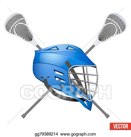Lacrosse clipart blue. Vector art helmet and