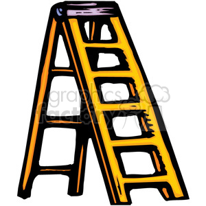 Royalty free yellow vector. Ladder clipart