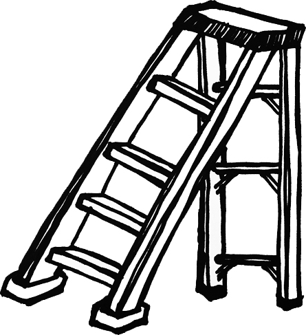 Ladder clipart. Clip art black and