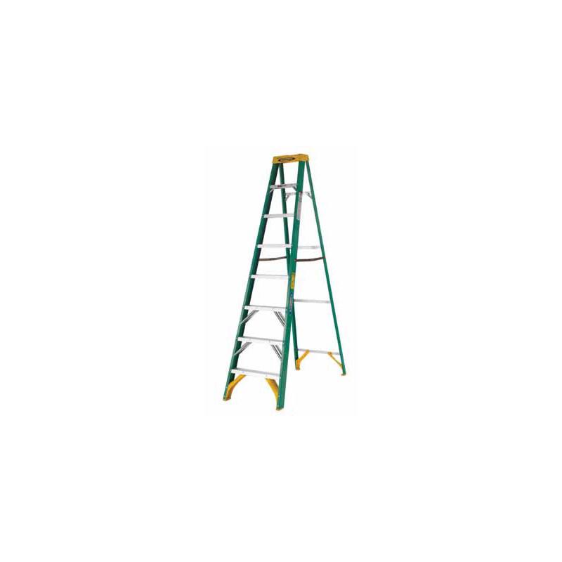 Ladder clipart 8 step. Werner ft fiberglass ansi