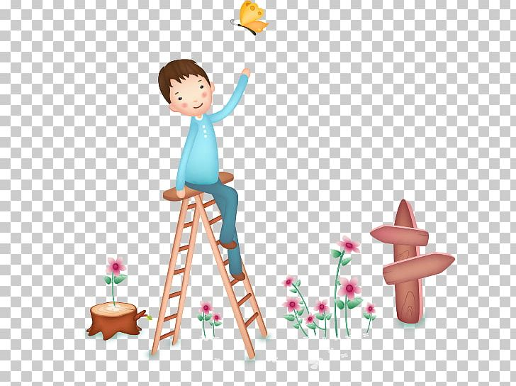 Ladder clipart baby. Butterfly stairs png boy