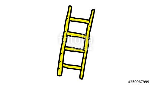 Ladder clipart bamboo ladder. Kids drawing green screen
