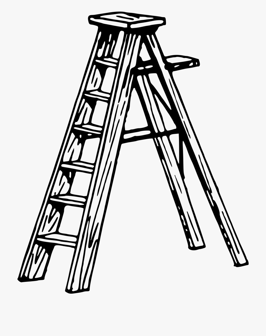 Clip art ladders . Ladder clipart black and white