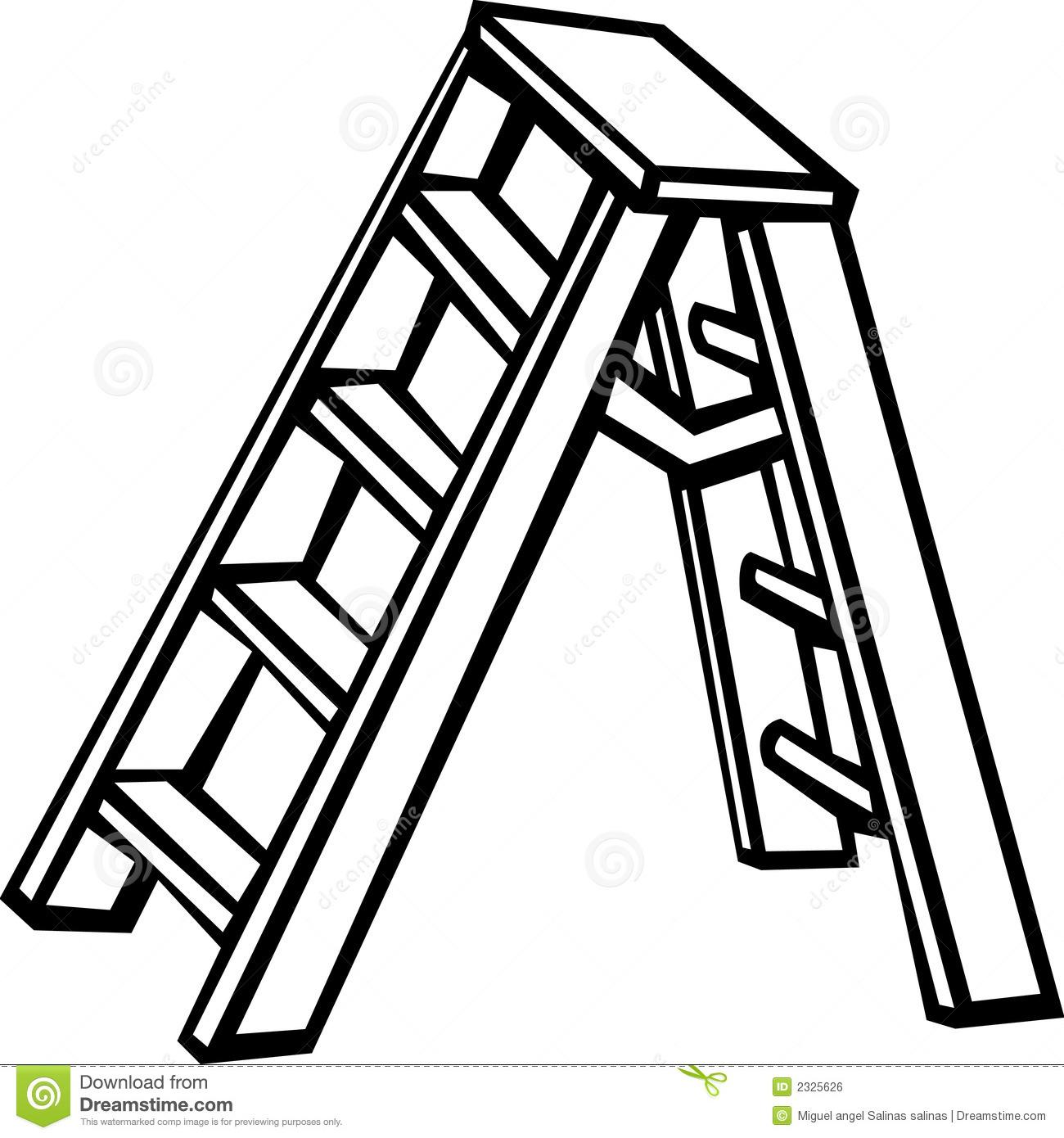 Station . Ladder clipart black and white