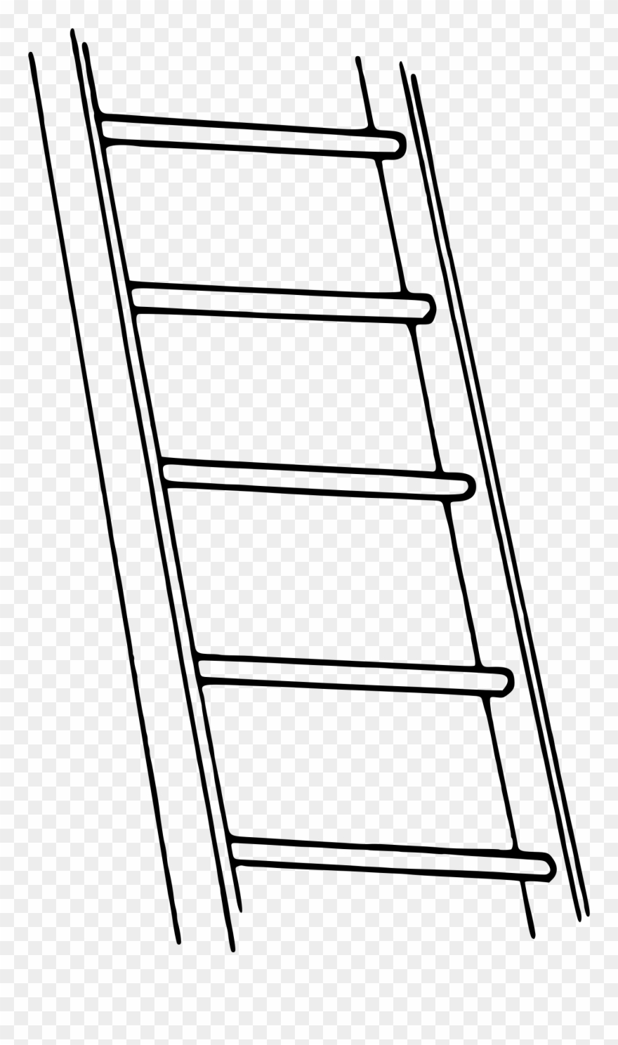Png download . Ladder clipart black and white