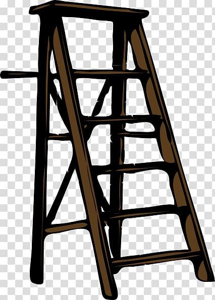 Ladder clipart brown. A framed wood illustration