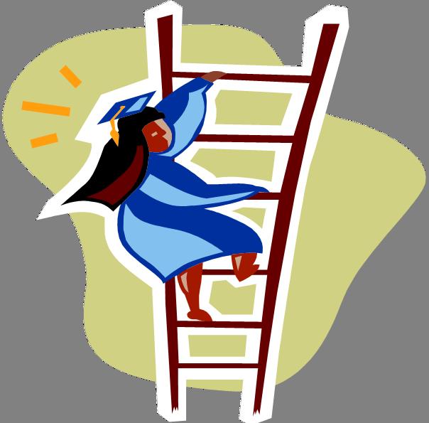 Ladder clipart career ladder. Junk education