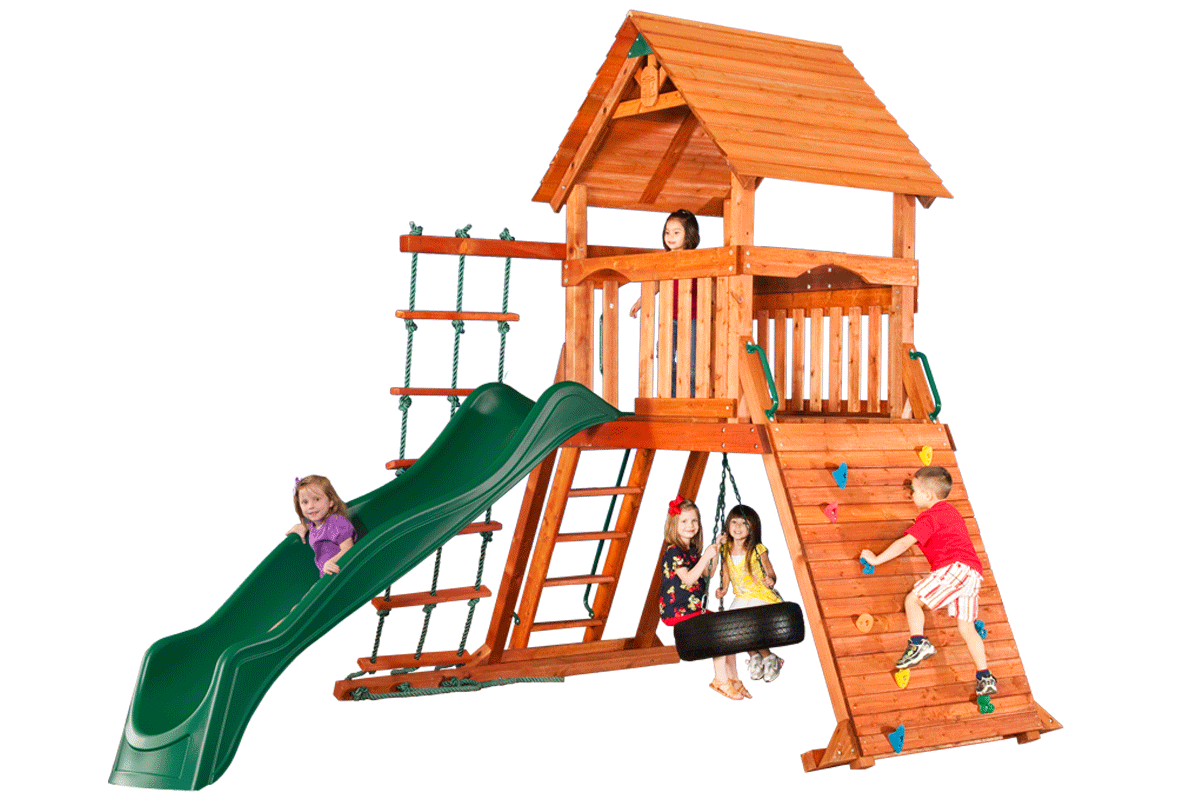 Sequoia fort climbing frame. Ladder clipart chute