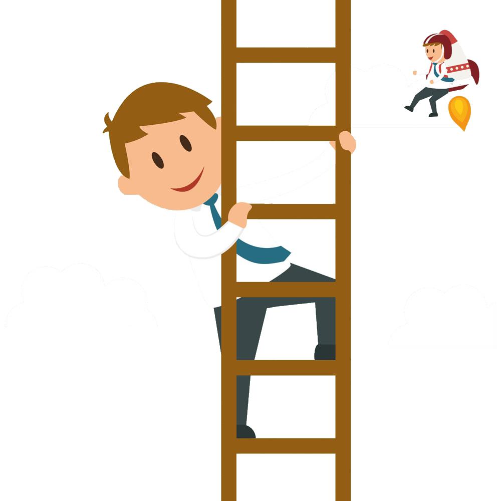Ladder clipart corporate person. Cartoon businessperson graphic design