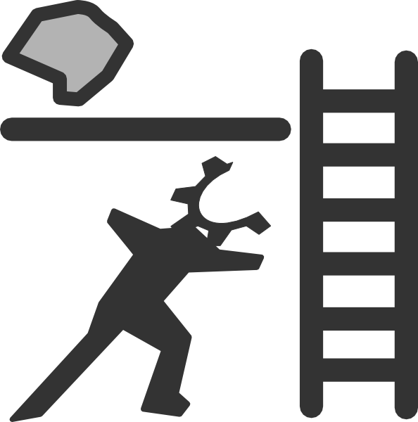 With and rock clip. Ladder clipart corporate person
