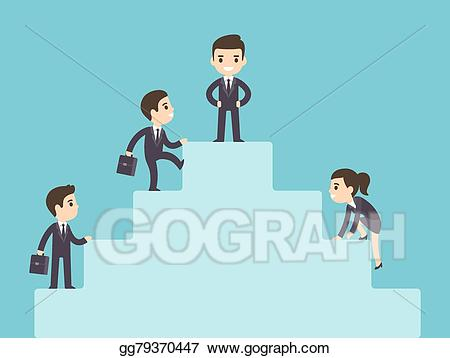 Ladder clipart corporate person. Clip art vector business