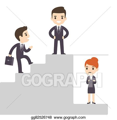 Ladder clipart corporate person. Vector and glass ceiling