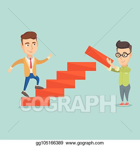 Ladder clipart corporate person. Vector art business man