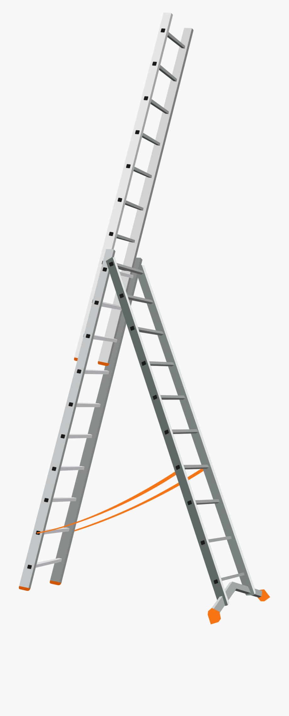 Ladder clipart extension ladder. Png