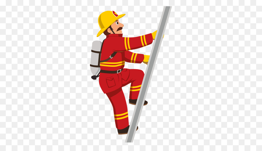 Cartoon png download free. Ladder clipart firefighter