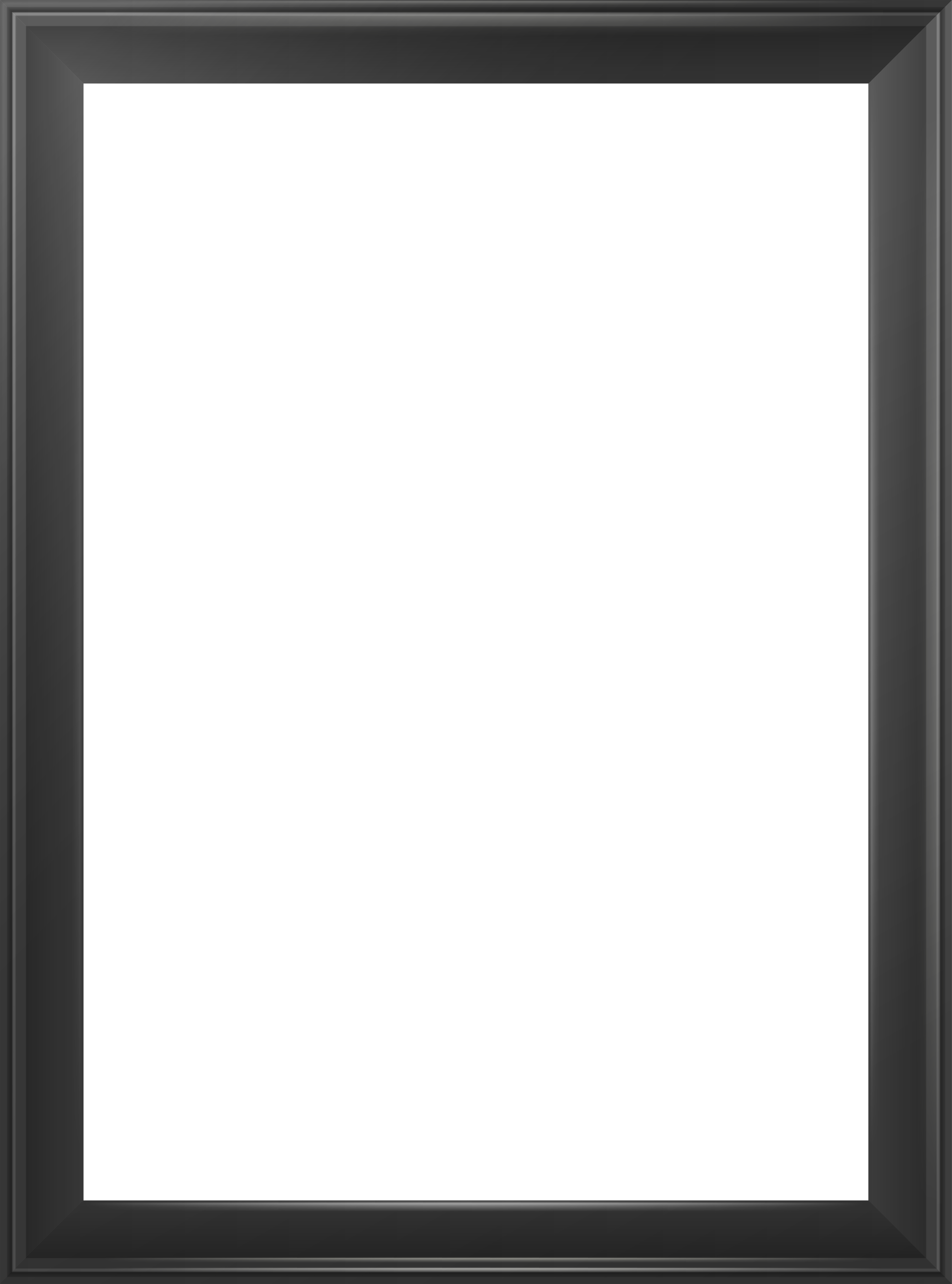 Png picture frame. Transparent classic black image