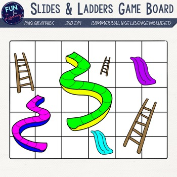 Ladder clipart fun. Slides ladders gameboard