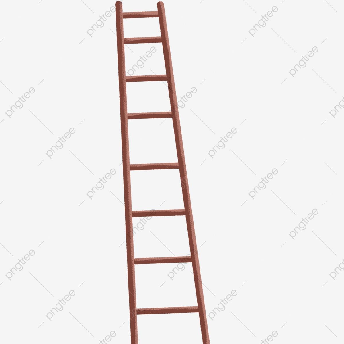 Ladder clipart iron. Yellow wooden cartoon