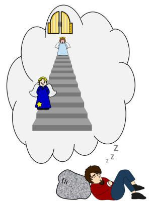 Jacob s collage craft. Ladder clipart jacobs ladder