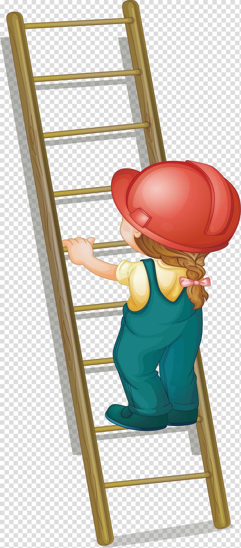 Ladder clipart kid. Illustration step on the