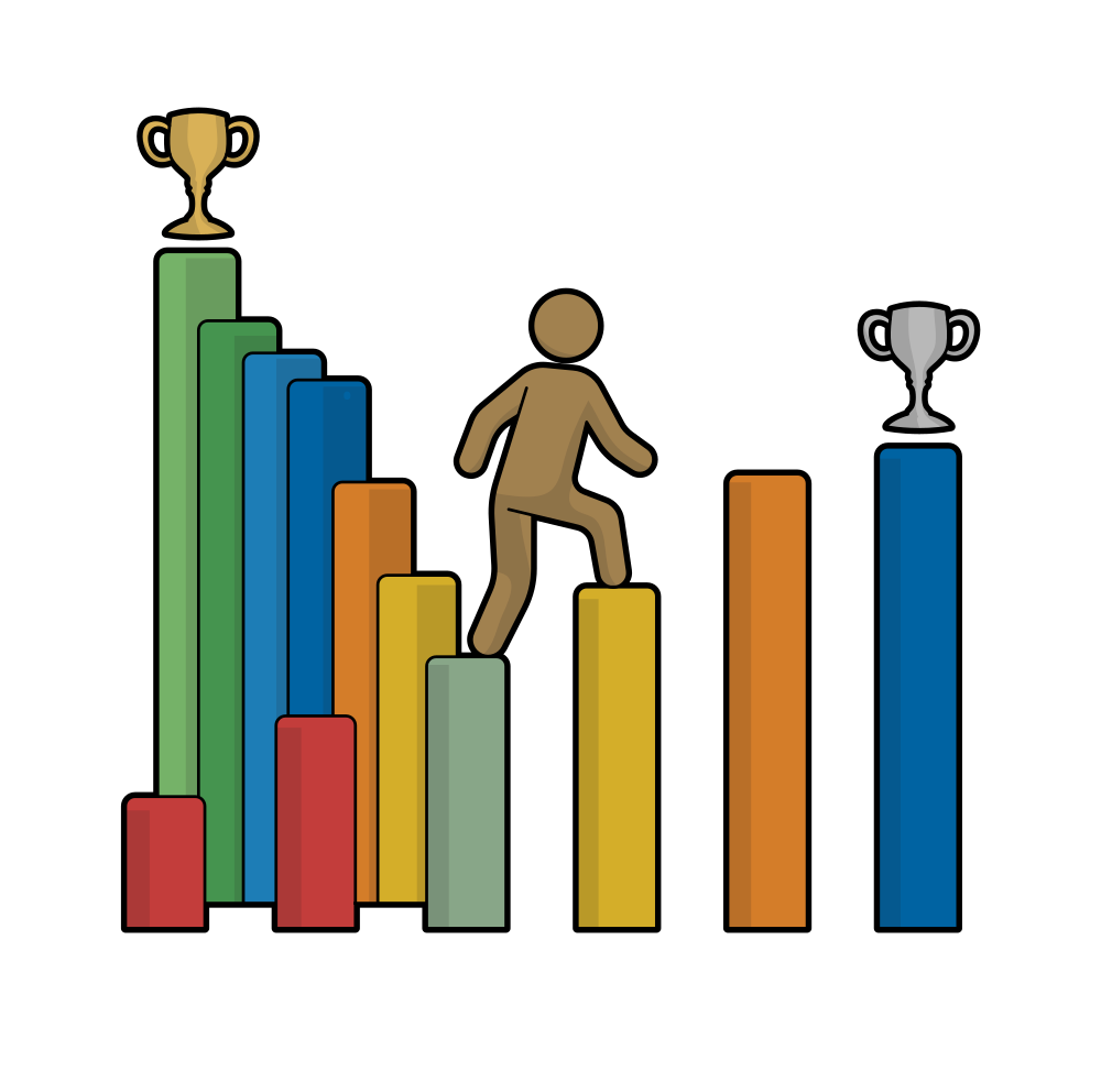 File career change to. Ladder clipart our town