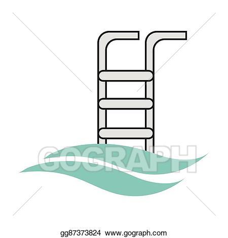 Ladder clipart pool ladder. Eps illustration icon vector