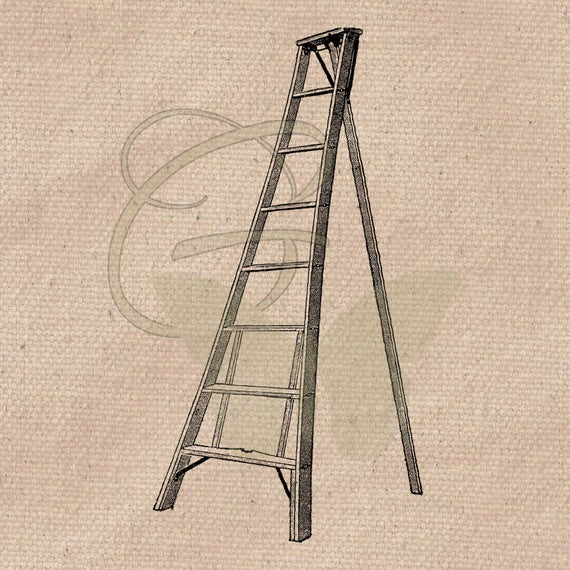 Hand drawn image transfer. Ladder clipart printable