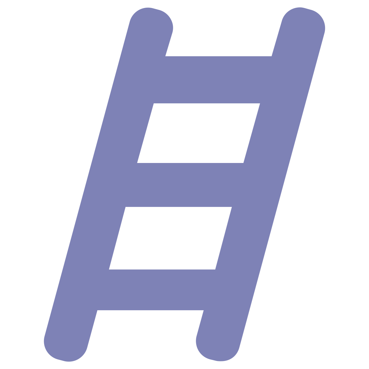 Icon q centrix healthcare. Ladder clipart purple